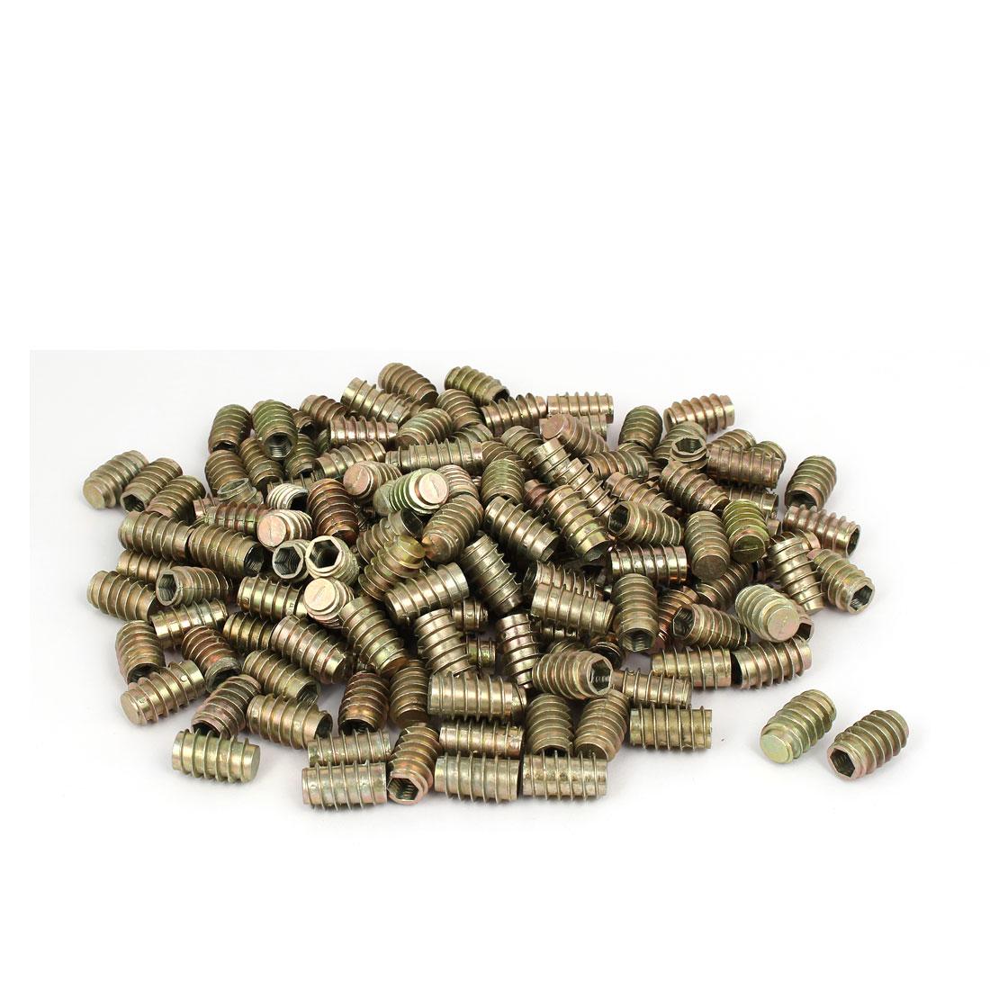 Furniture Zinc Alloy Blind Hole Hex Socket Insert Screws E-Nuts M8x25mm 200pcs