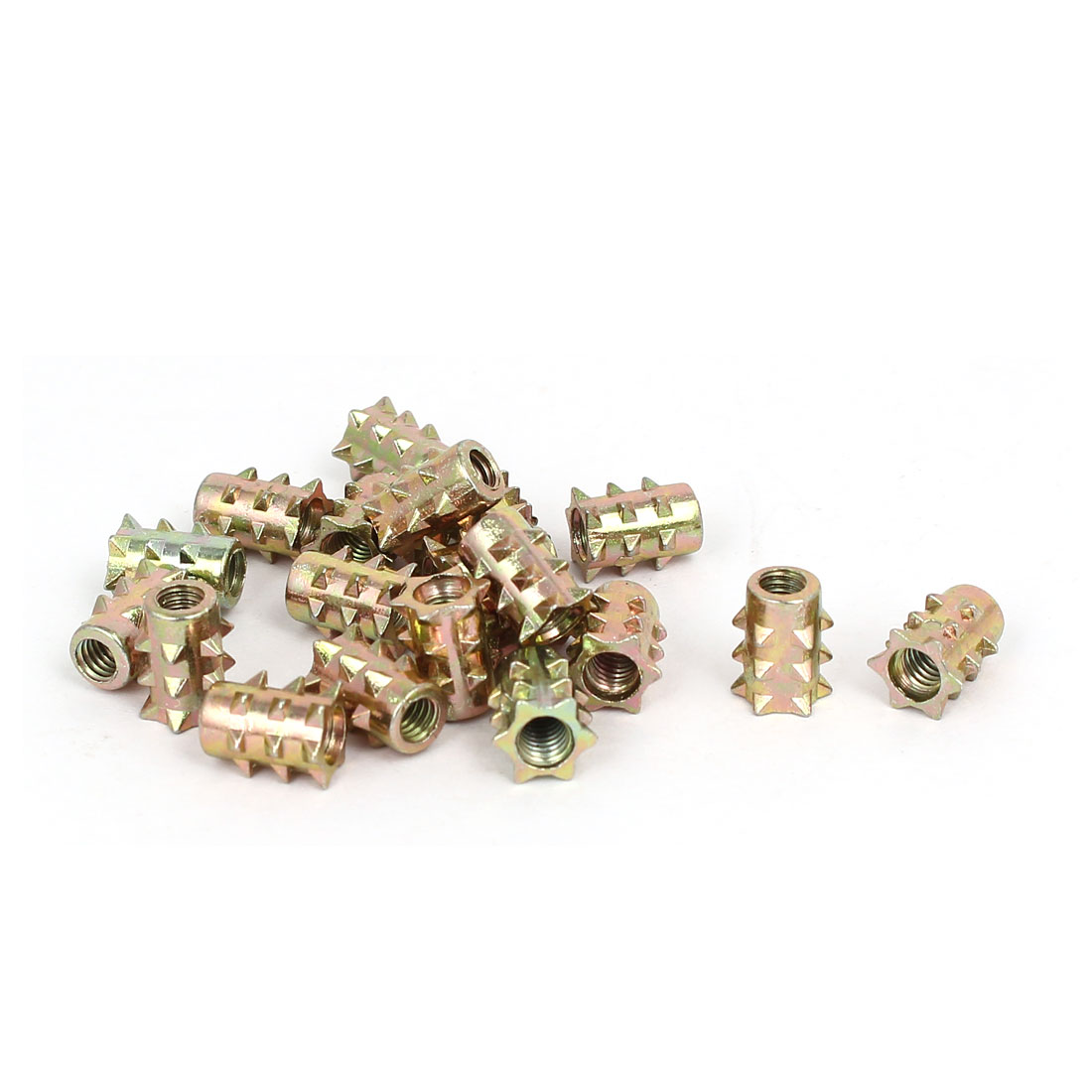 M4 x 10mm Star Head Insert Screws E-Nuts Furniture Fittings Bronze Tone 20pcs
