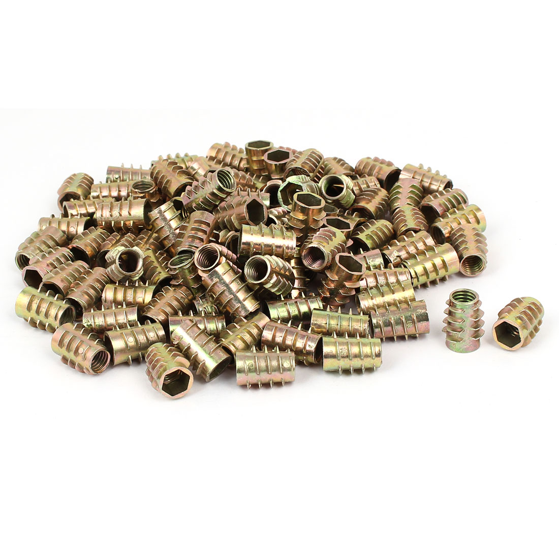Wood Furniture Zinc Alloy Hex Socket Insert Screws E-Nuts M8x18mm 100pcs