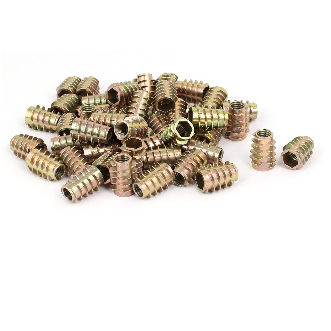 Wood Furniture Zinc Alloy Hex Socket Insert Screws E-Nuts M8x20mm 50pcs