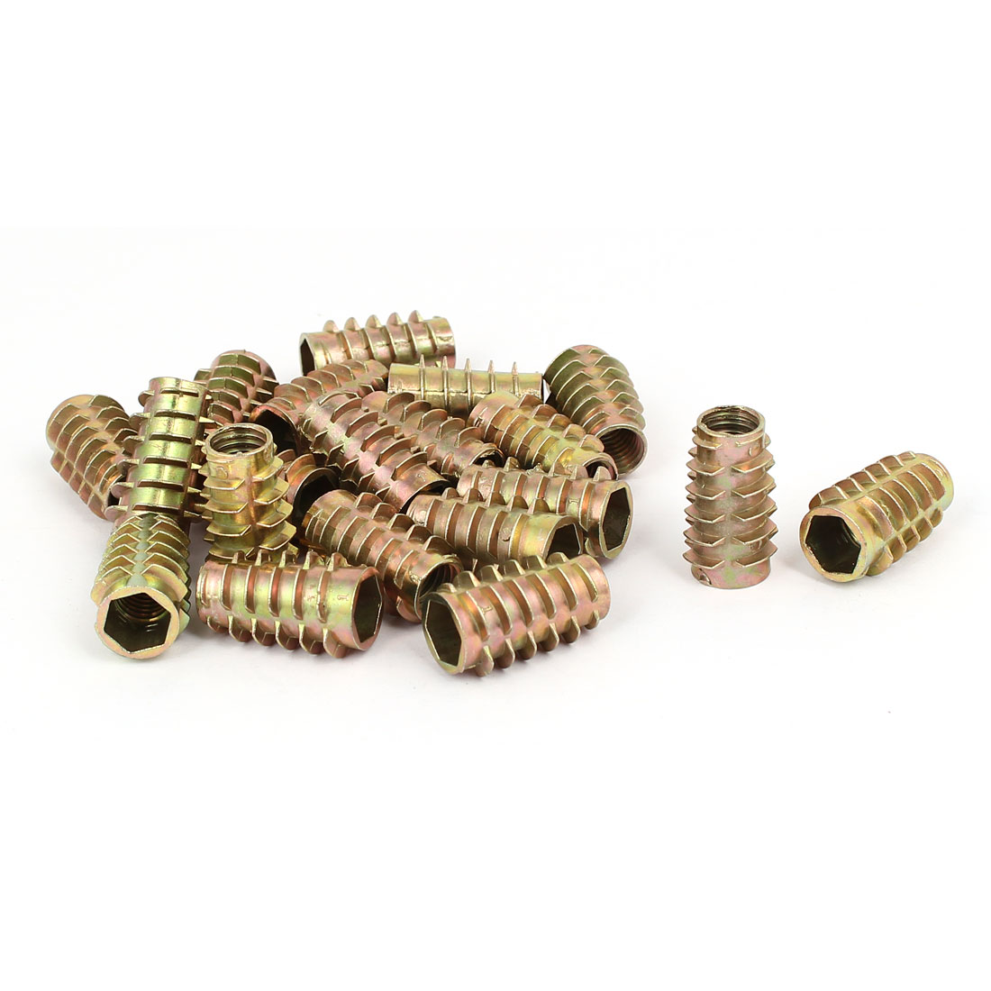 Wood Furniture Zinc Alloy Hex Socket Insert Screws E-Nuts M8x25mm 20pcs