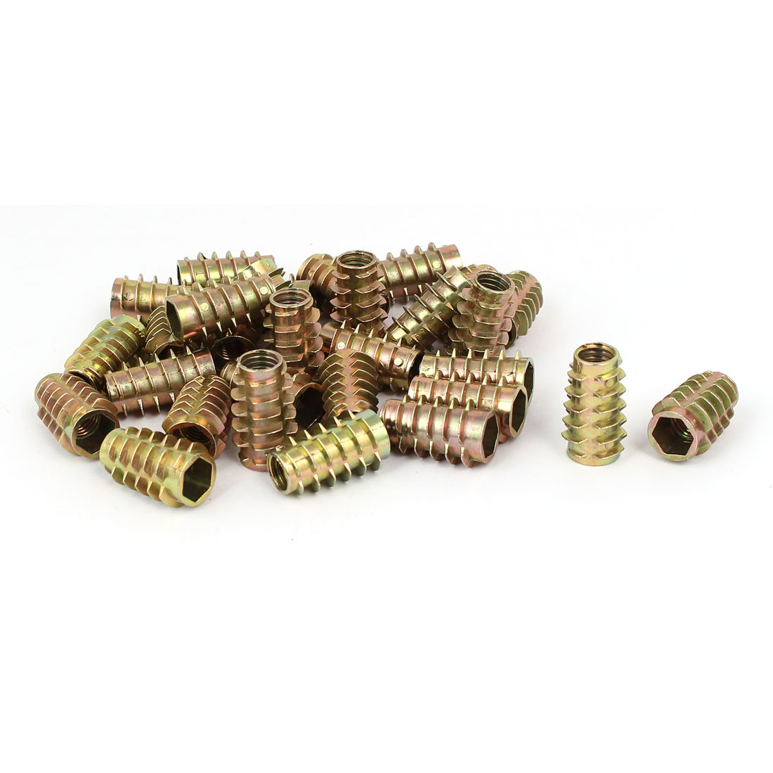Wood Furniture Zinc Alloy Hex Socket Insert Screws E-Nuts M8x25mm 30pcs