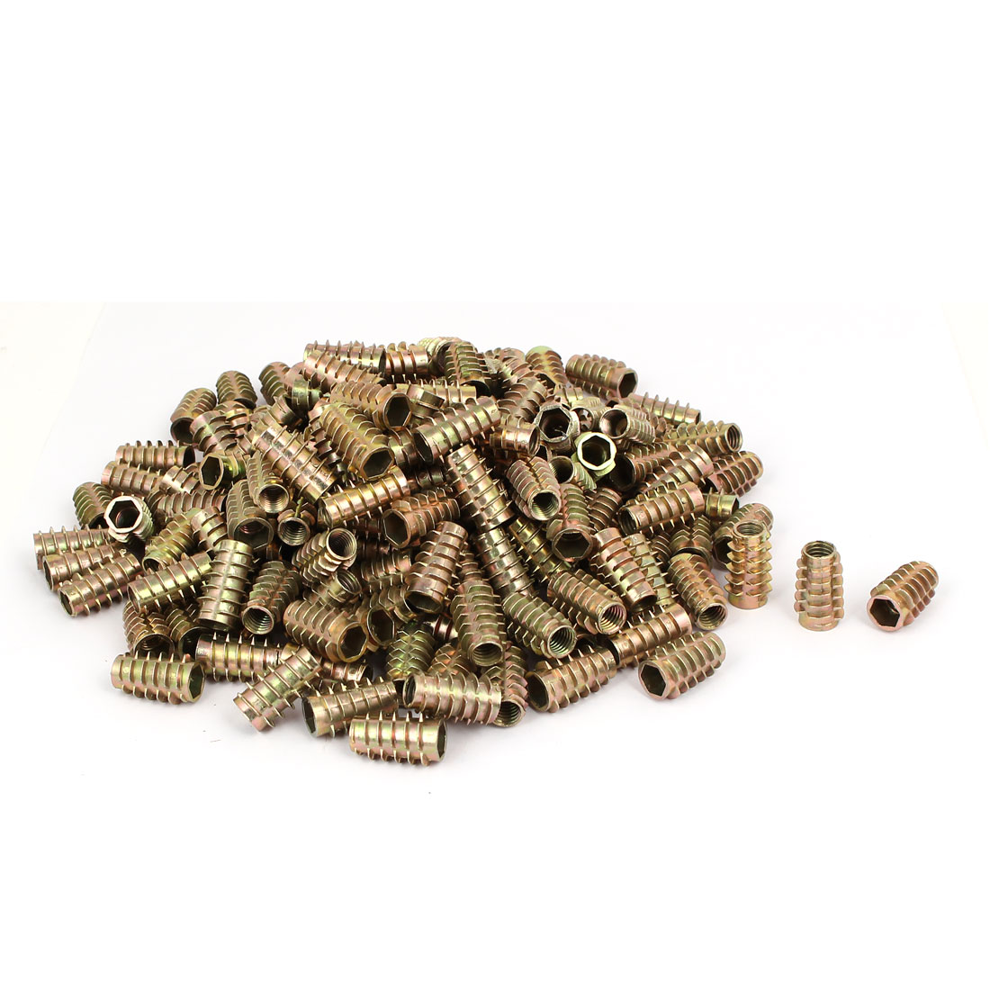 Wood Furniture Zinc Alloy Hex Socket Insert Screws E-Nuts M8x25mm 200pcs