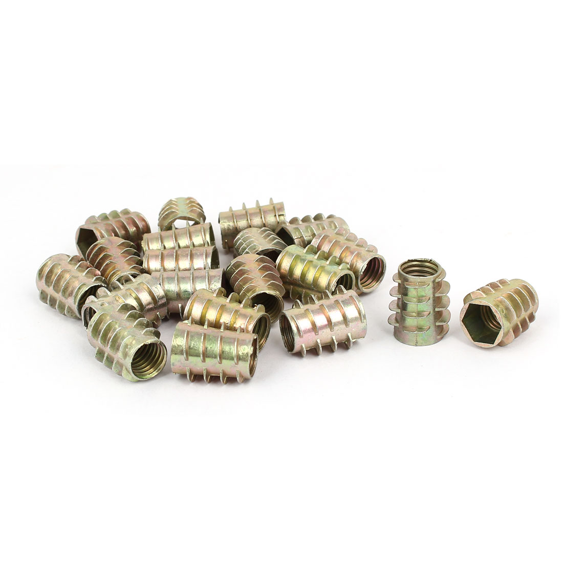 Wood Furniture Zinc Alloy Hex Socket Insert Screws E-Nuts M10x20mm 20pcs