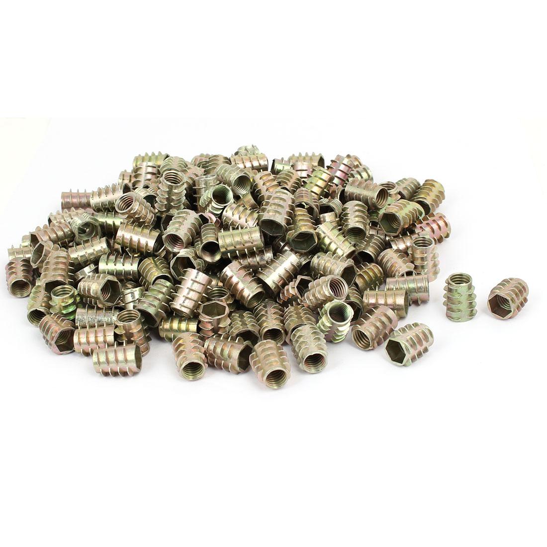 Wood Furniture Zinc Alloy Hex Socket Insert Screws E-Nuts M10x20mm 200pcs