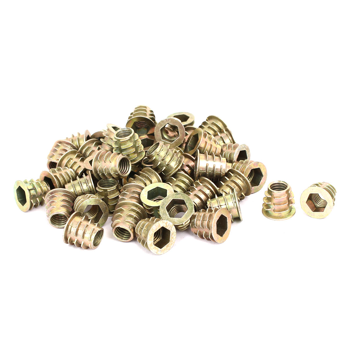 M8 x 13mm Hex Socket Head Insert Screws E-Nuts Furniture Fittings 50pcs