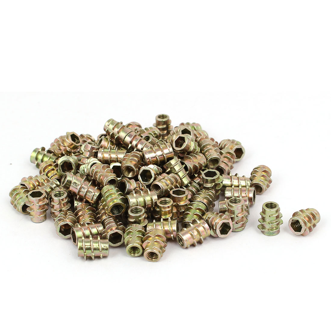 Wood Furniture Zinc Alloy Hex Socket Insert Screws E-Nuts M4x10mm 100pcs