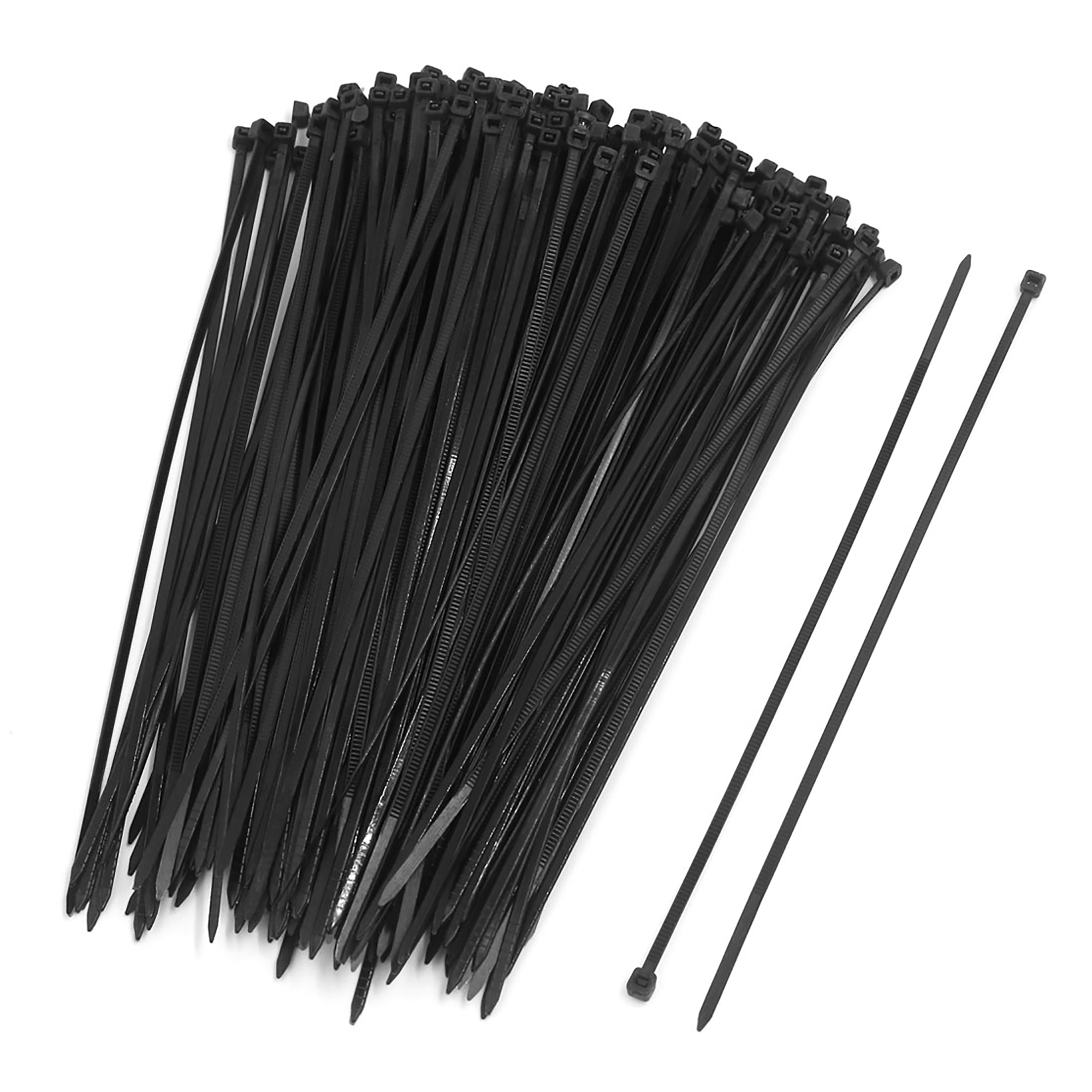 200pcs 3 x 200mm Nylon Plastic Self Lock Network Cable Tie Zip Fasten Wire Black