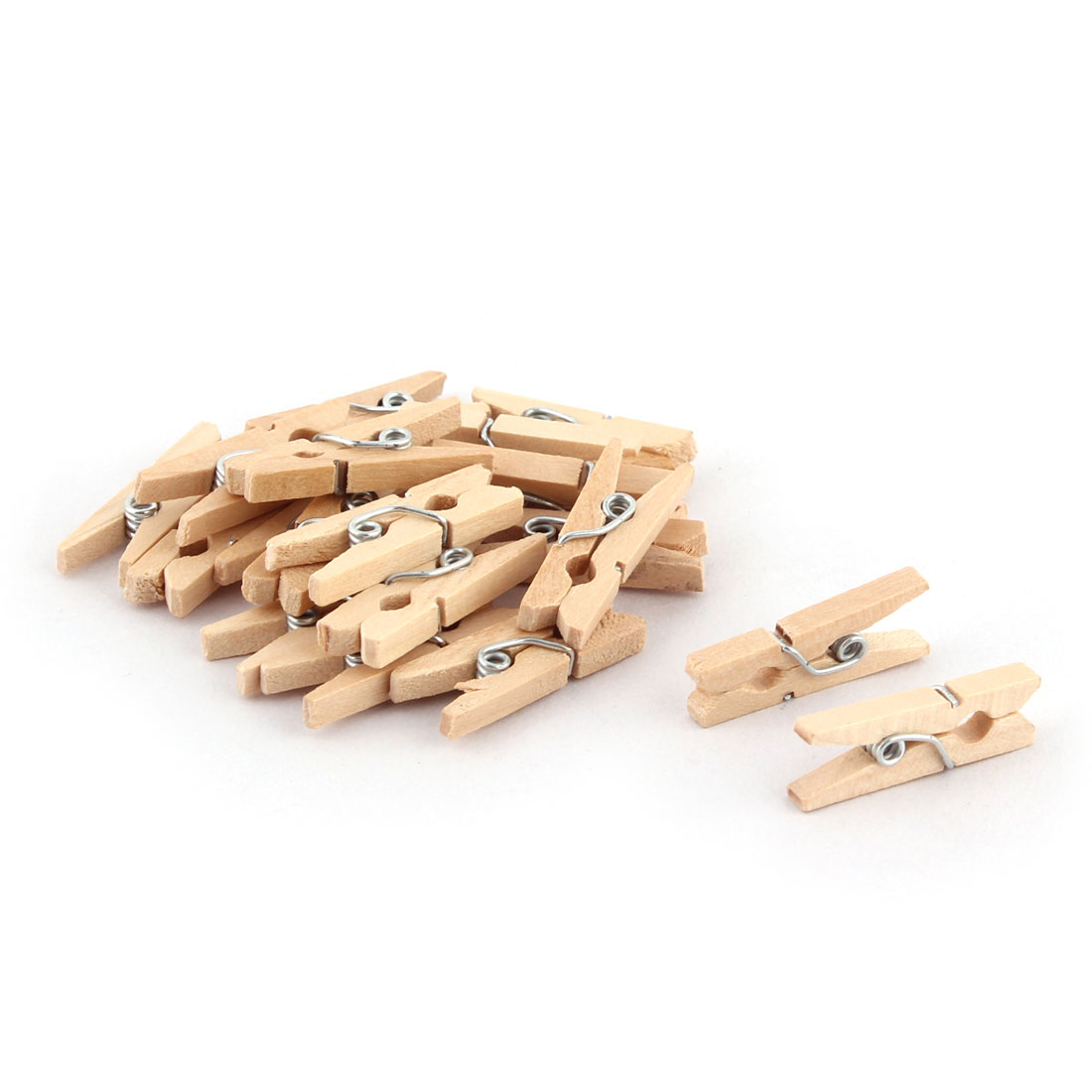Wooden Spring Loaded Art Craft Photo Picture Clamp Clip Paper Peg 19pcs