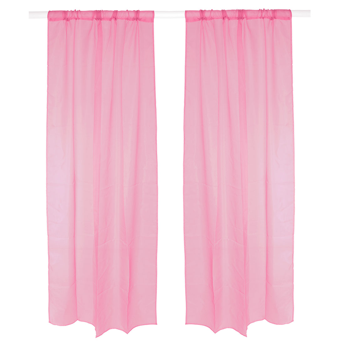 Bedroom Background Divider Panel Window Sheer Curtain Light Pink 100 x 200cm