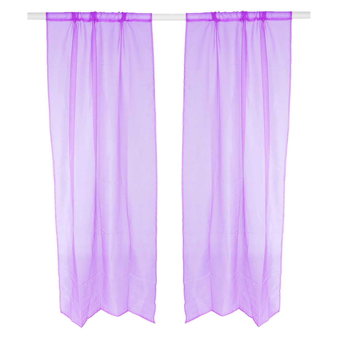 Home Polyester Decorative Voile Screen Window Sheer Curtain Purple 100 x 200cm