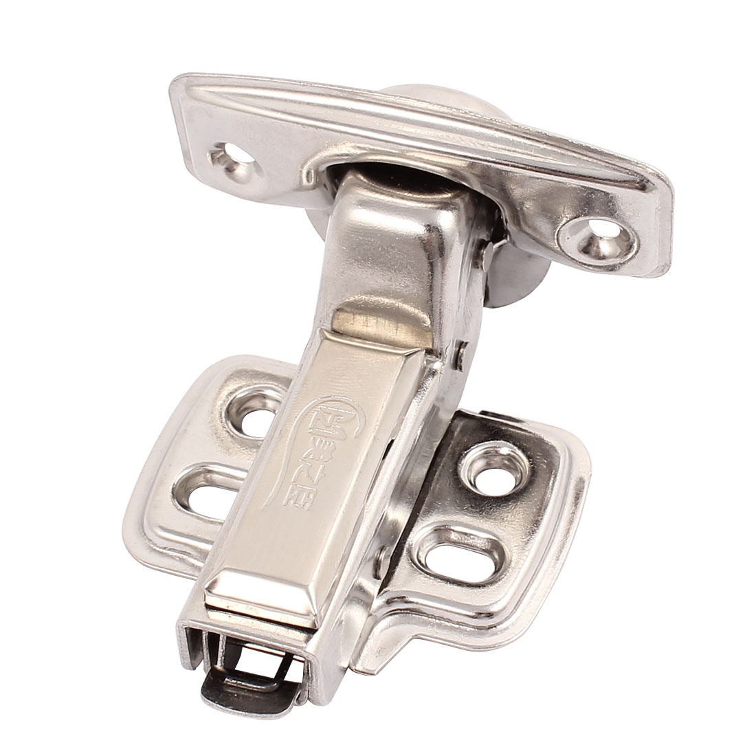 Cabinet Furniture Stainless Steel Concealed Cabinet Hinge 1.5mm Thick Silver Tone