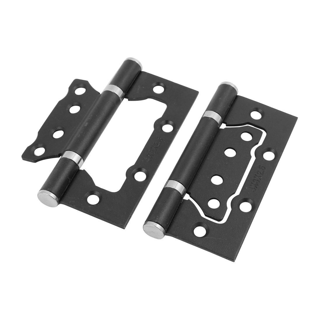 Home Furniture Wardrobe Cabinet Door Butt Hinge 10 x 5 x 1.2cm Black 2pcs