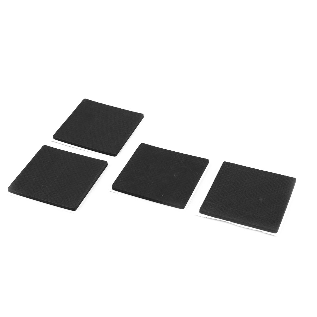 Home Square Shaped Table Chair Furniture Foot Protection Pad Black 4 Pcs