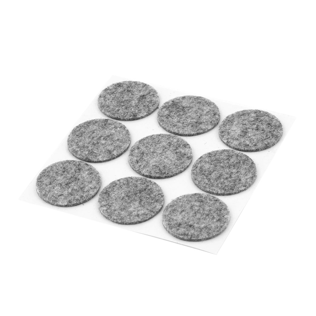 Home Round Shaped Table Chair Feet Protection Furniture Felt Pad Gray 9 Pcs