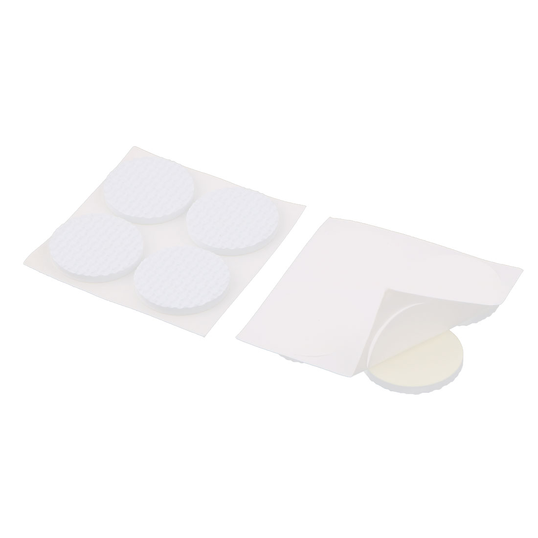 Home Round Design Table Chair Furniture Foot Protection Pad White 8 Pcs