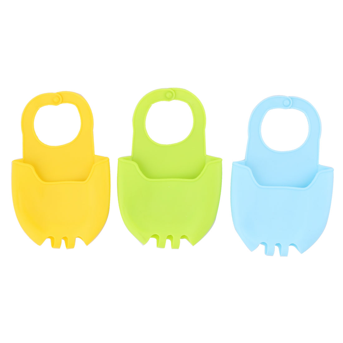 Household Kitchen Silicone Sponge Washing Cleaning Tool Holder Basket Drainer 3 Pcs