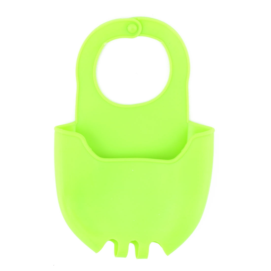 Home Kitchen Silicone Sponge Washing Cleaning Tool Holder Basket Drainer Green