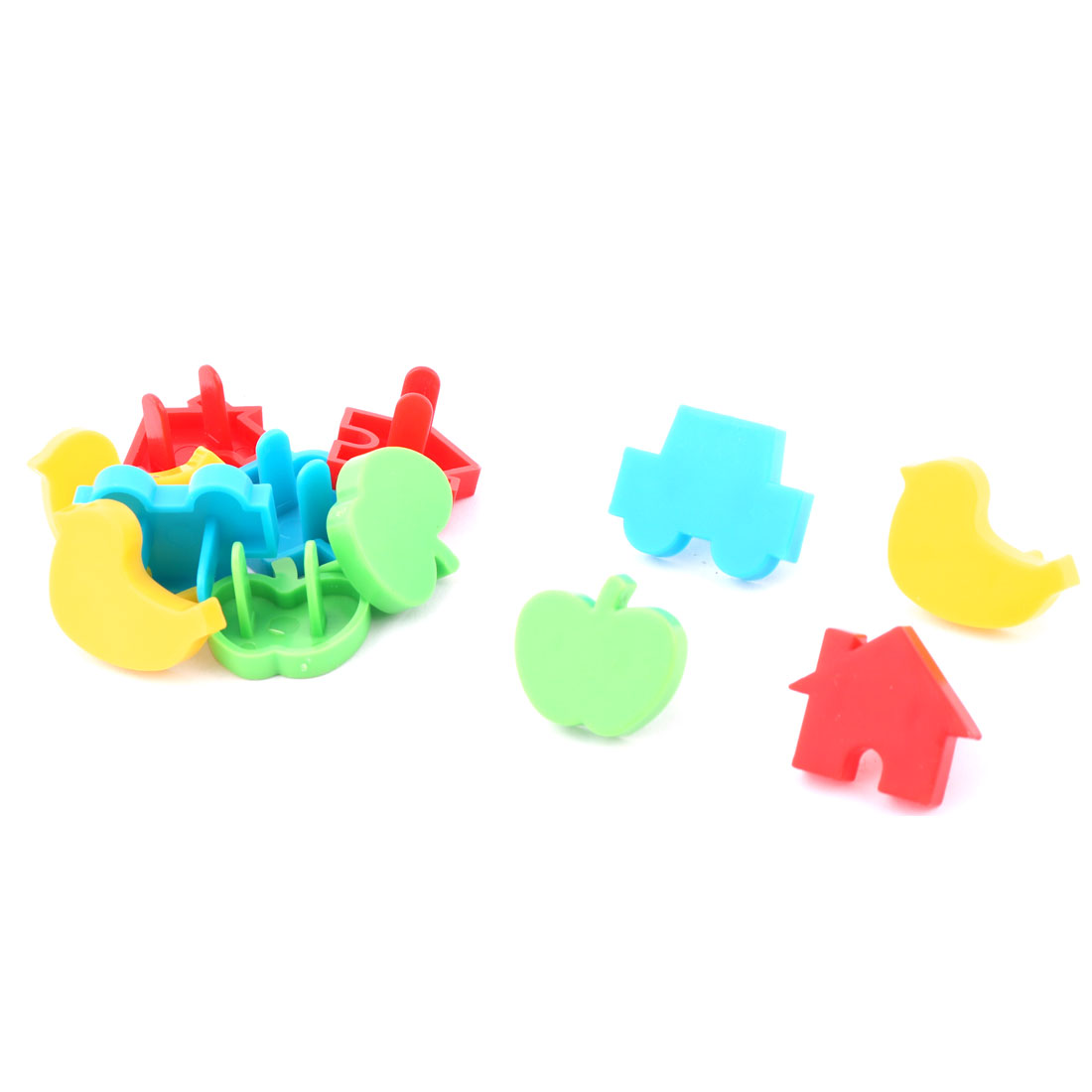 Plastic US Plug Socket Outlet Protector Safety Cover Cap Assorted Color 12 in 1
