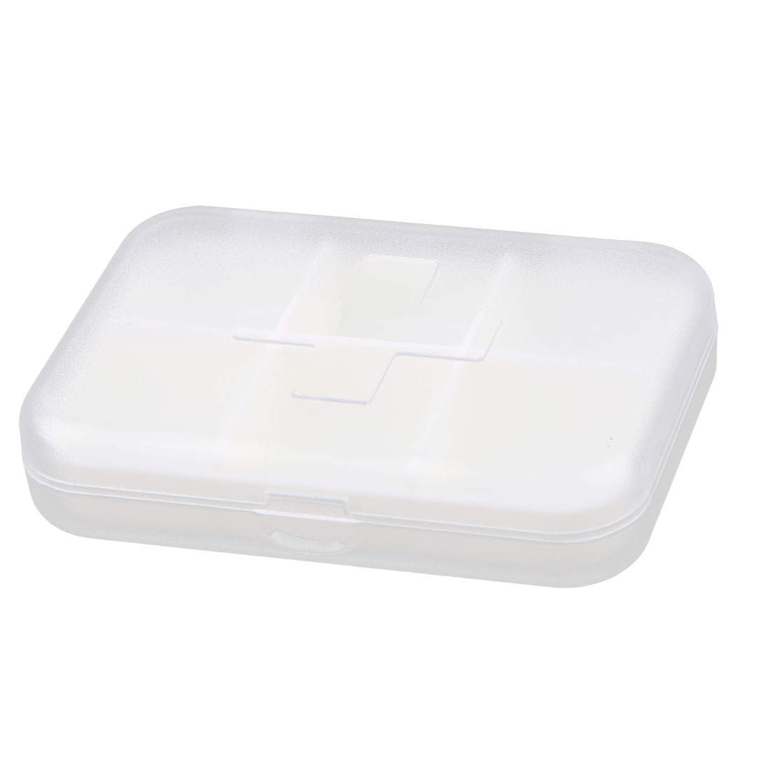 Plastic Rectangle 6 Slots Medicine Pill Capsule Storage Box Organizer Clear