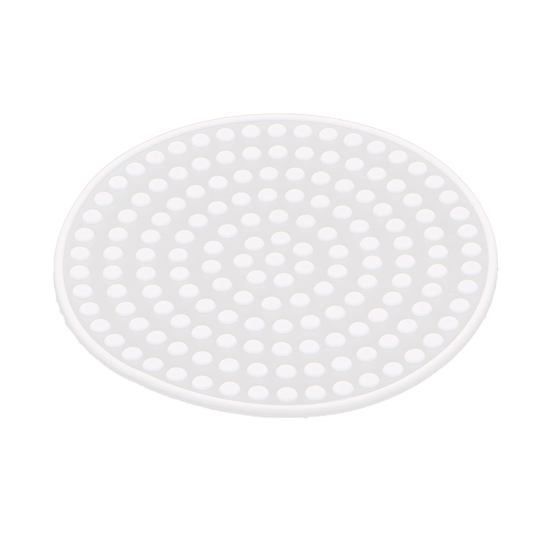 Silicone Round Shape Dots Design Heat Resistant Cup Bowl Mat Pad Coaster White