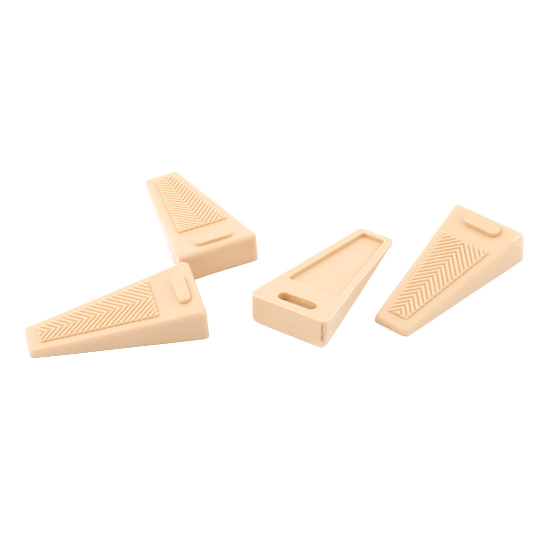 Home Office Rubber Finger Safety Protector Door Wedge Holder Stopper Khaki 4 Pcs