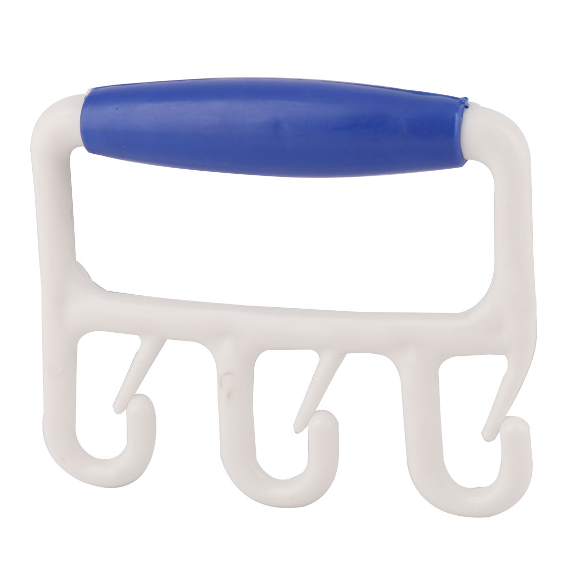 Houshold Plastic Three Hook Shopping Grocery Bag Grip Holder Handle Carrier Tool Blue
