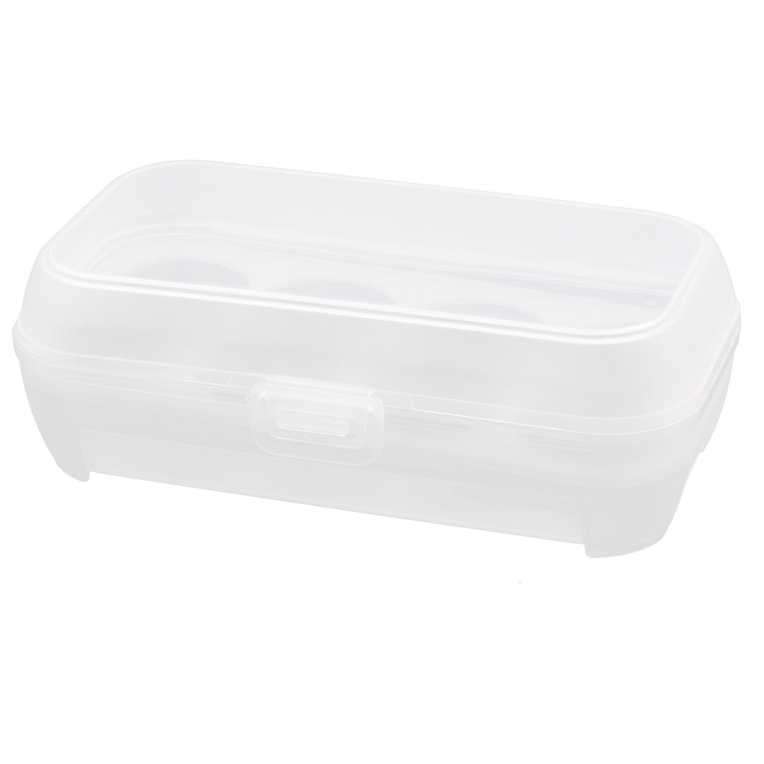 Kitchen Plastic Rectangle Shaped 8 Slots Eggs Holder Storage Container Box
