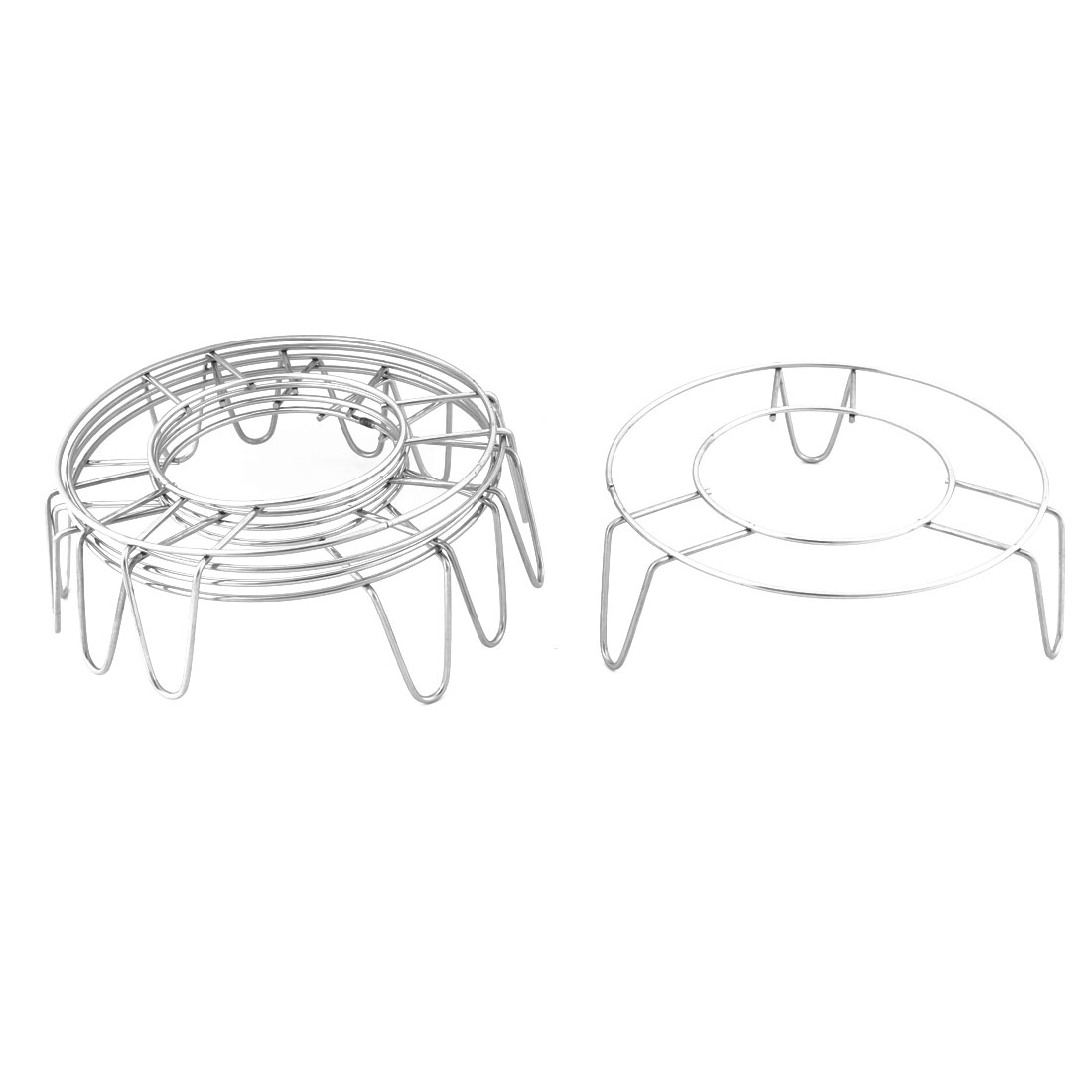 Stainless Steel Round Shape 3 Legs Design Cooking Steamer Steam Rack Stand 5 Pcs