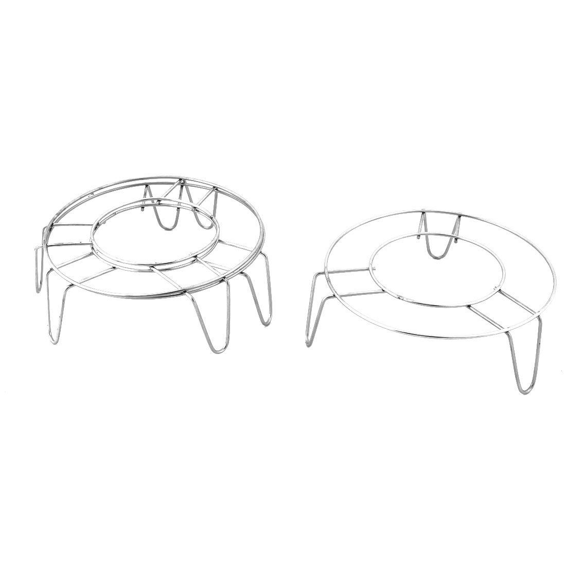 Stainless Steel Round Shape 3 Legs Design Cooking Steamer Steam Rack Stand 3 Pcs