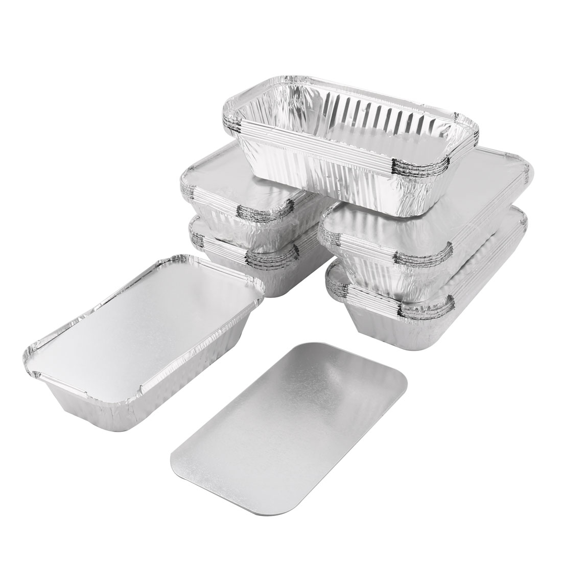 Kitchen Tableware Aluminum Foil Food Heat Resistant Baking Container 550ml 40pcs