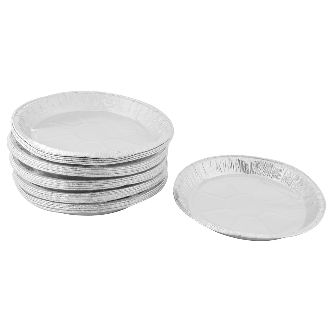 Kitchen Aluminum Foil Round Shaped Disposable Container Cakes Pie Plate 40 PCS