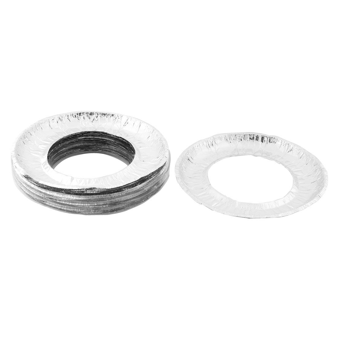 Cookware Aluminum Foil Round Shaped Stove Burner Clean Bib Liners Covers 40 PCS