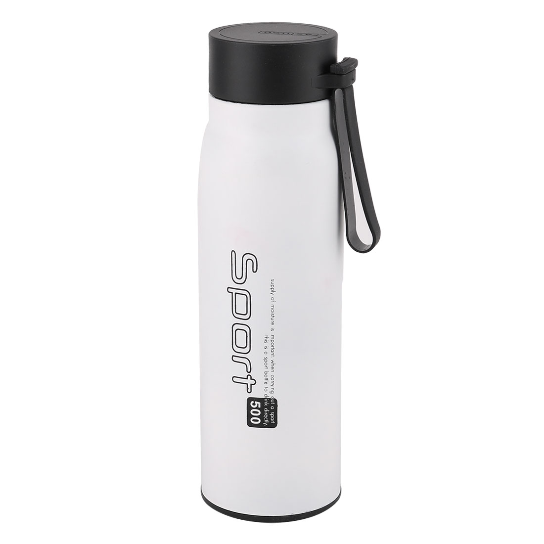 Household Stainless Steel Temperature Keeping Water Cup Vacuum Thermo Bottle White 500ml Capacity