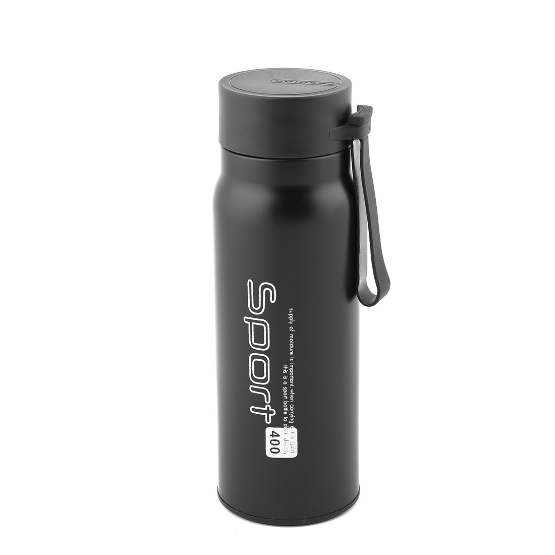 Home Travel Stainless Steel Tea Water Insulated Vacuum Thermo Cup Bottle Mug Black 400ml
