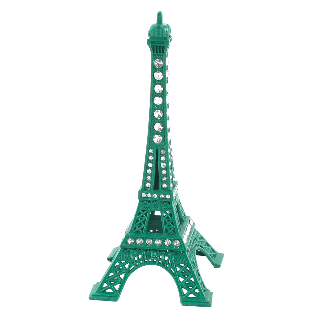 Home Dresser Metal Miniature Statue Paris Eiffel Tower Model Souvenir Ornament Green