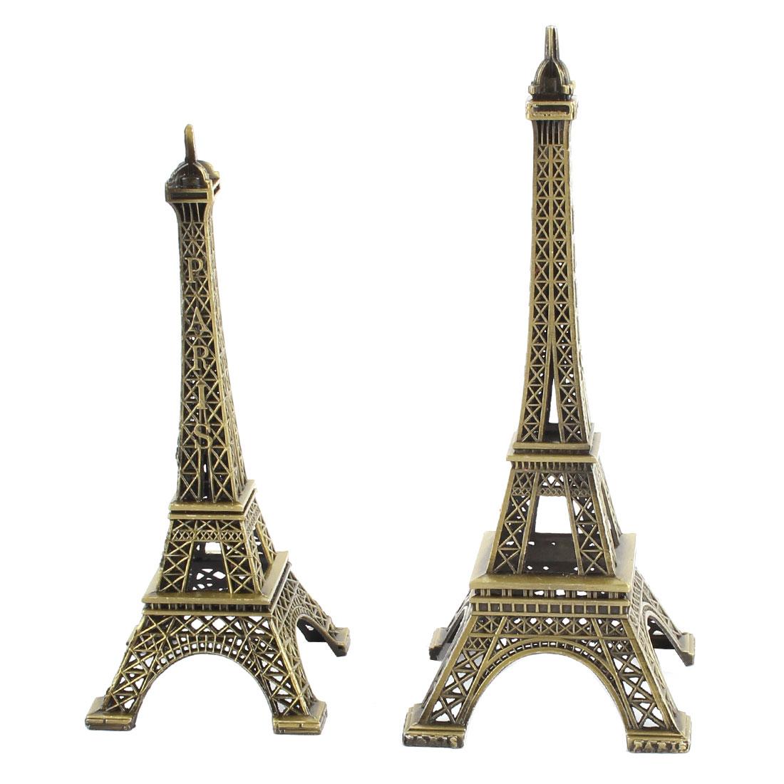 Apartment Metal Miniature Statue Eiffel Tower Model Souvenir Ornament 2 in 1