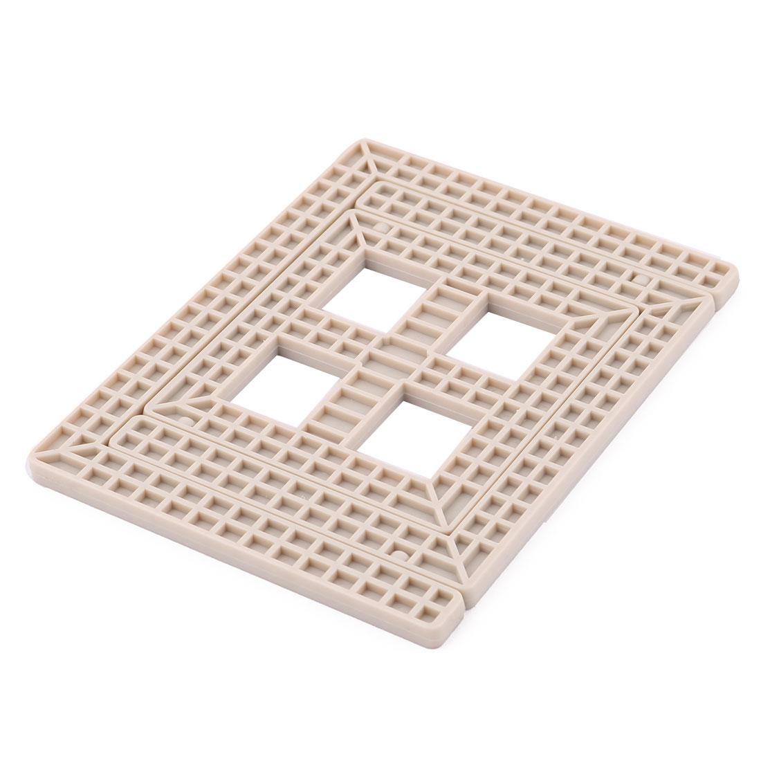 Home Kitchenware Plastic Foldable Expandable Heat Resistant Hot Pot Dish Bowl Holder Insulation Mat Khaki