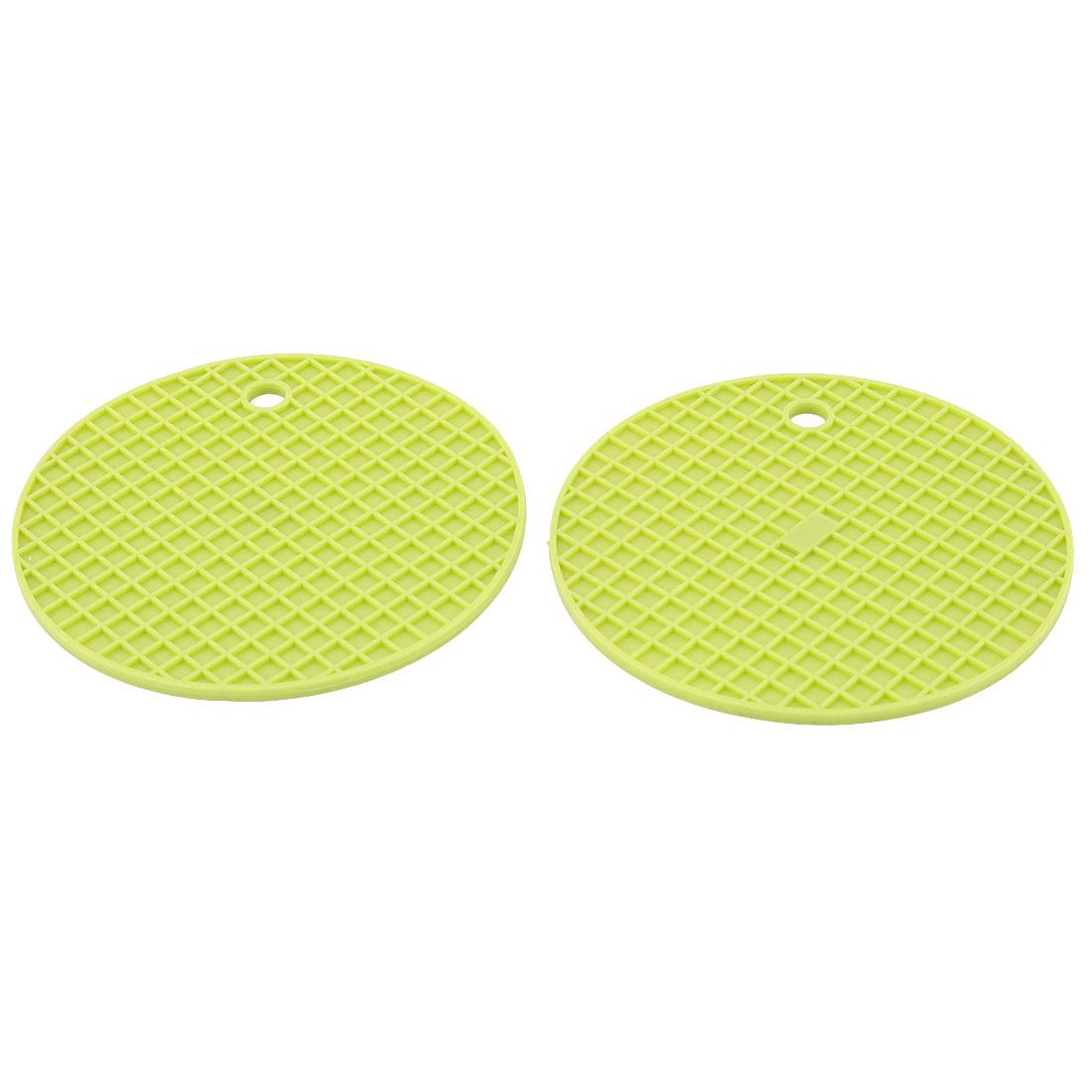 Household Kitchenware Silicone Heat Resistant Non-slip Hot Pot Dish Bowl Holder Insulation Mat Light Green 2 Pcs
