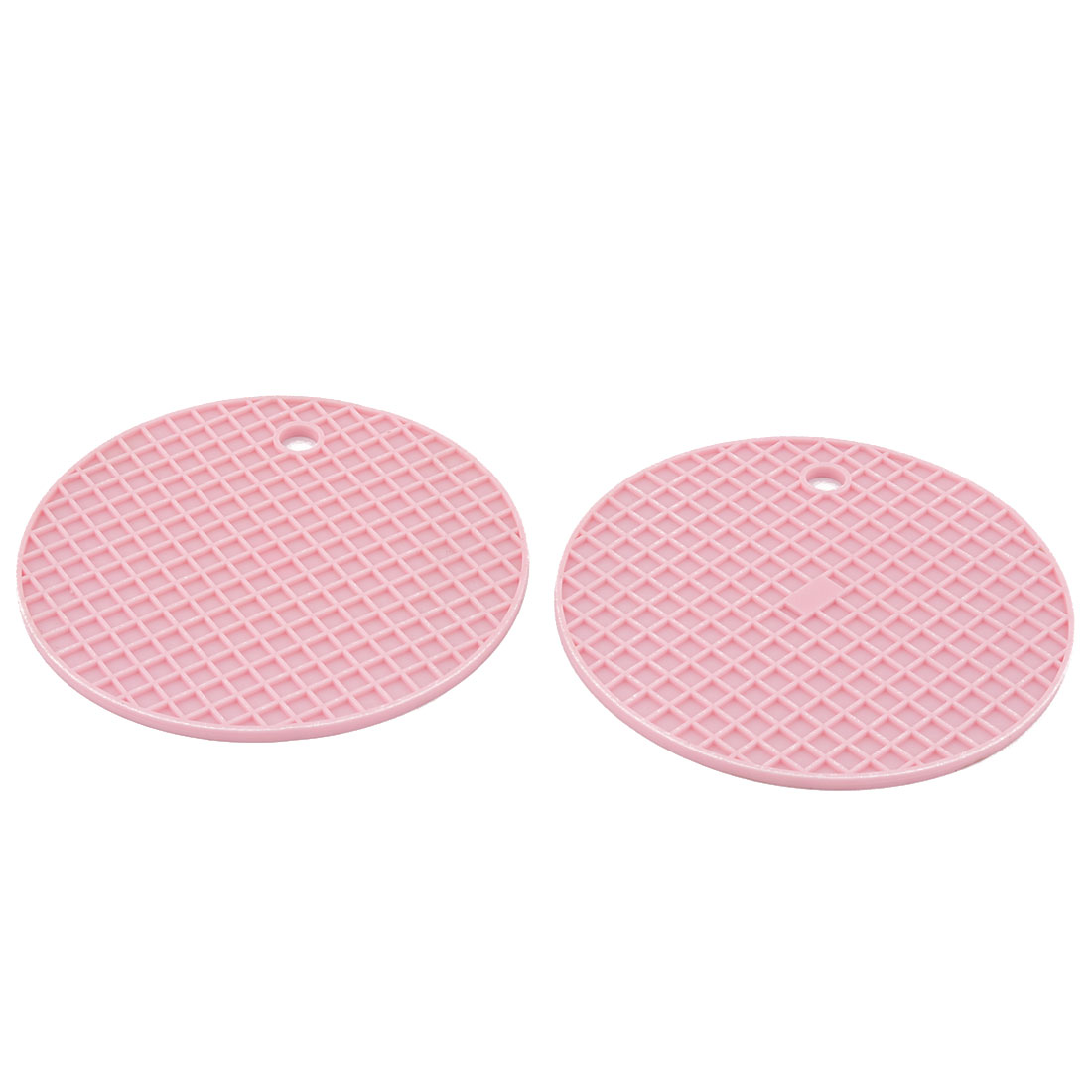 Household Kitchenware Silicone Heat Resistant Non-slip Hot Pot Dish Bowl Holder Insulation Mat Pink 2 Pcs