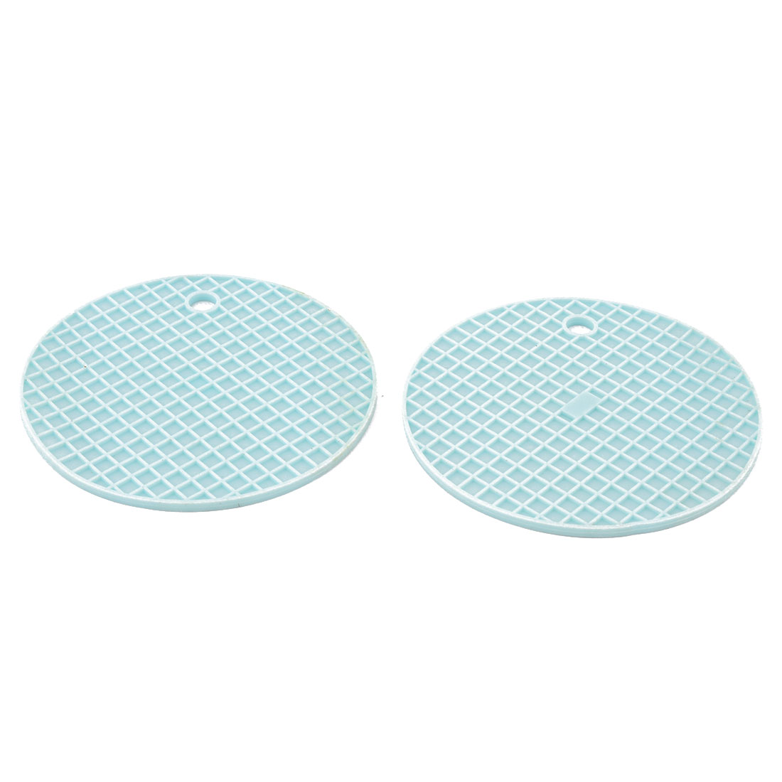 Household Kitchenware Silicone Heat Resistant Non-slip Hot Pot Dish Bowl Holder Insulation Mat Cyan 2 Pcs