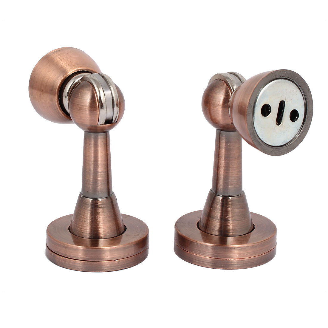 Home Office Door Metal Magnetic Catches Stopper Copper Tone 45mmx80mm 2pcs