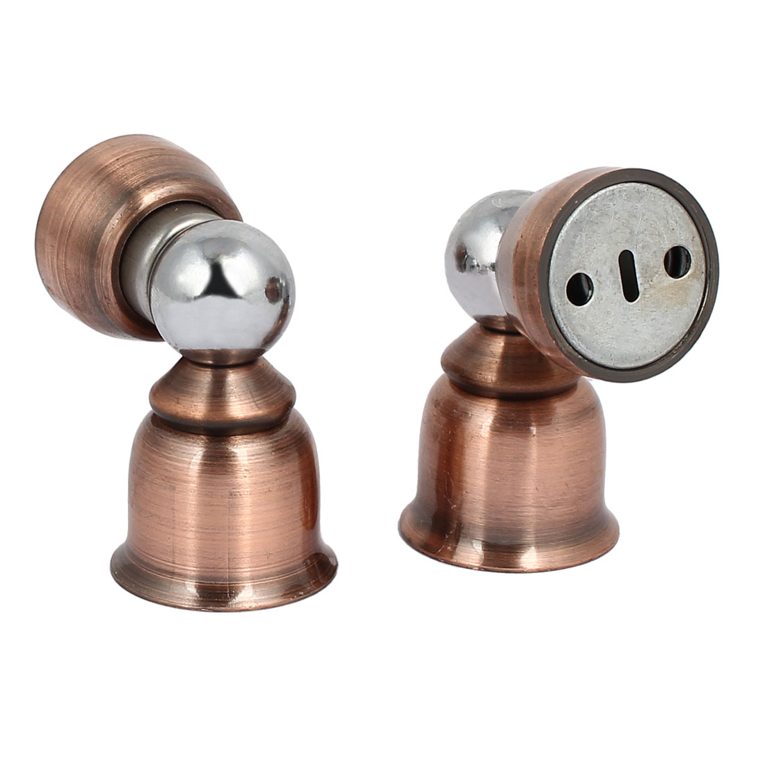 Home Office Metal Door Stopper Magnetic Catches Copper Tone 36mmx57mm 2pcs