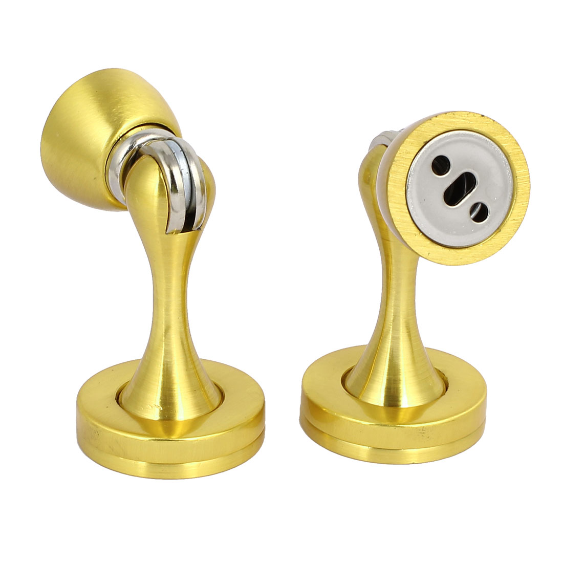 Washroom Kitchen Door Metal Magnetic Catches Stopper Gold Tone 45mmx75mm 2pcs