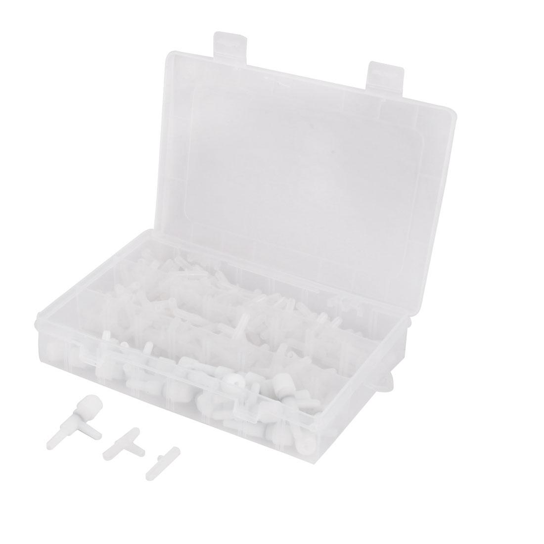 Aquarium Plastic Air Pump Control Return Valve Tubing Connector Set 170 in 1