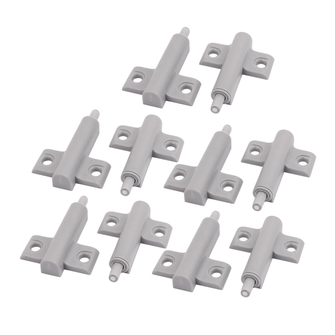 Cupboard Cabinet Drawer Hole Mounting Damper Bumper Closer Buffer Gray 10pcs