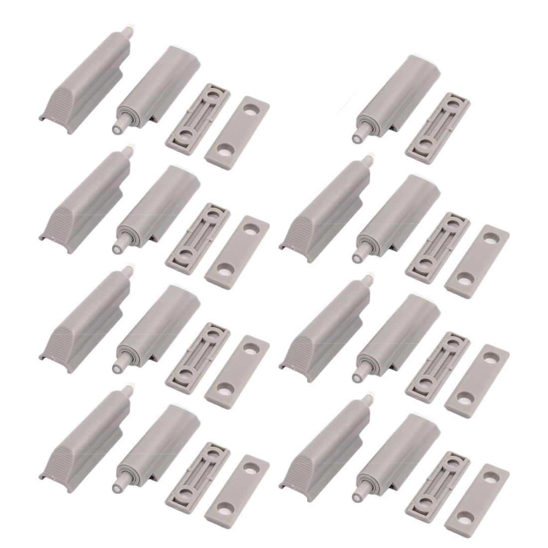 Cupboard Cabinet Drawer Plastic Damper Bumper Closer Buffer Gray 15pcs