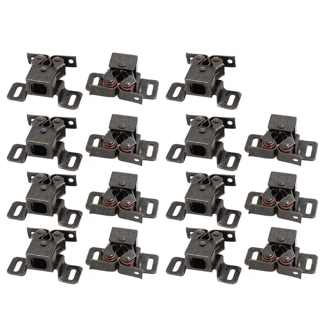 Cupboard Cabinet Door Double Ball Roller Catch Latch 46x30x20mm Bronze 15pcs