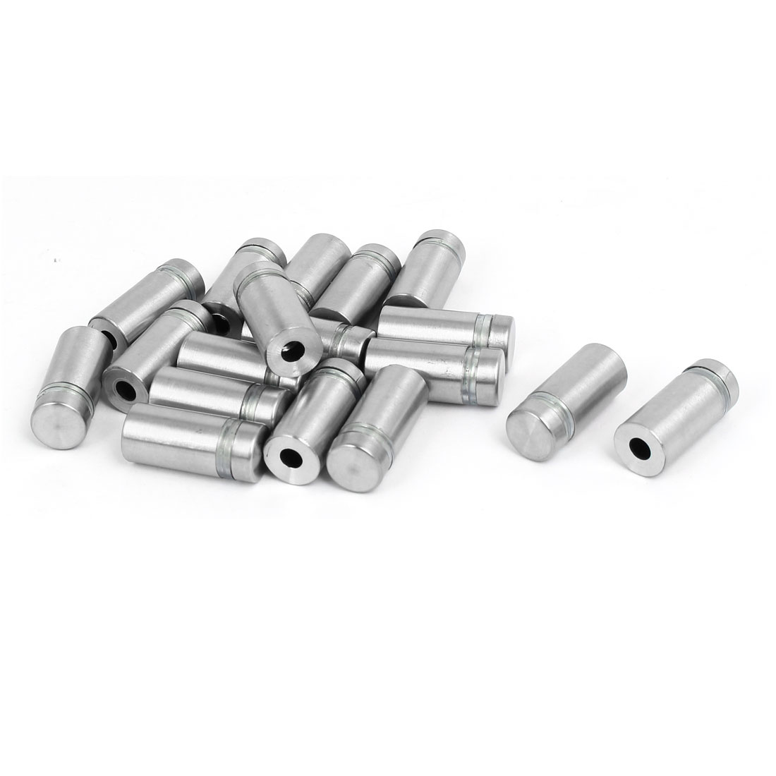 12mm x 27mm Stainless Steel Advertise Glass Standoff Pin Fixing Mount Bolt 18pcs