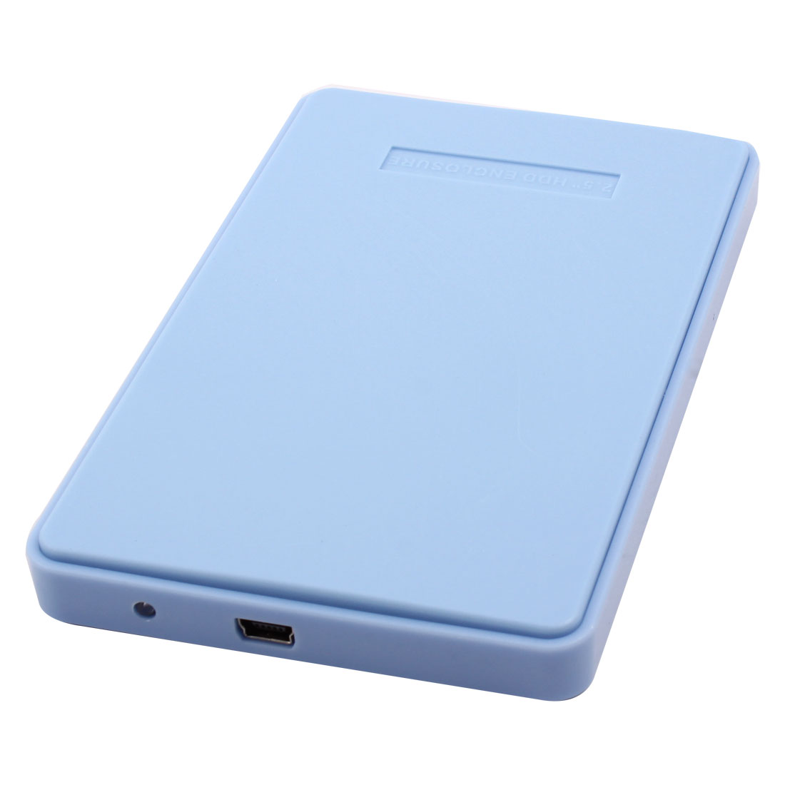Notebook Portable USB 2.0 Hard Drive Disk Plastic Enclosure External 2.5 Inch Sata HDD Case Light Blue